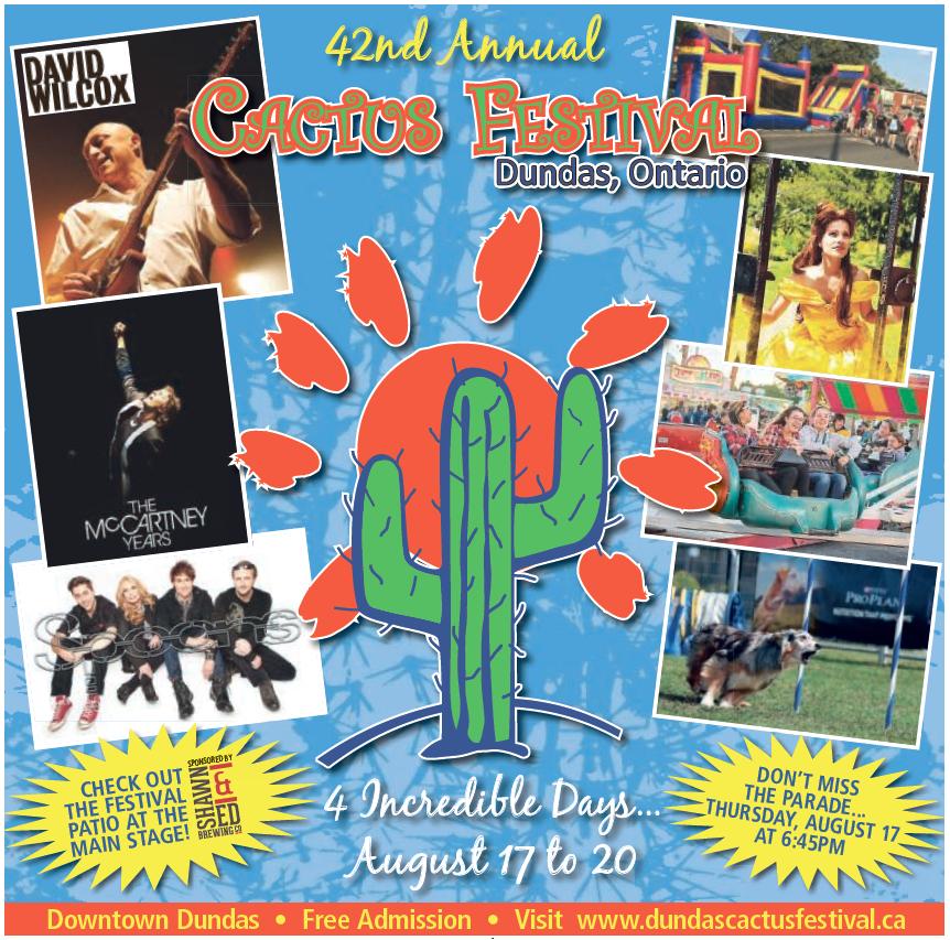 Dundas Cactus Festival Information Insert 2017